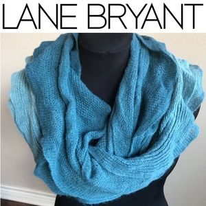 Teal Ombré Infinity Scarf by LANE BRYANT